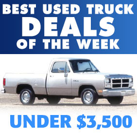 Best Used Trucks Under 5000 >> Best Used Trucks Under $3,500