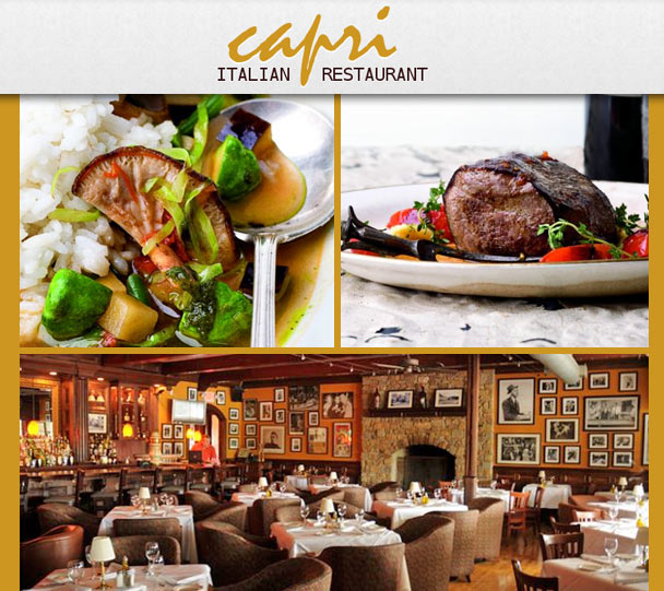 Capri Italian Restaurant Our Chefs Prepare Fresh Pastas Breads And Cheeses From Scratch In State Of The Art Kitchen Only Finest Ings Are