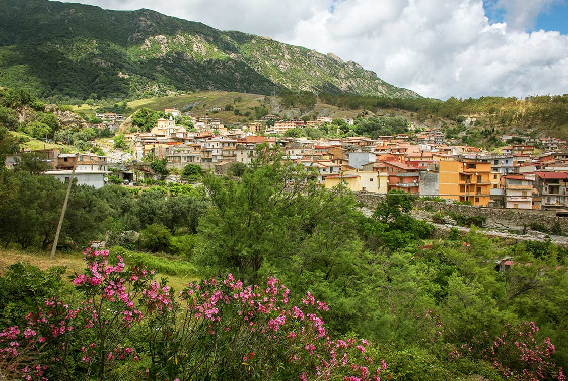 The village of Plati in the mountains of southeastern Italy.