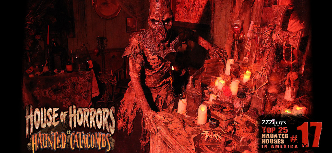 House of Horrors & Haunted Catacombs in Cheektowaga, New York (near Buffalo) is comprised of six terrifying attractions for a full night of fright.